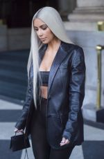KIM KARDASHIAN Out and About in New York 09/08/2017