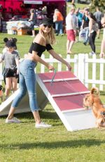 KIMBERLY GARNER with Her Dog at Pupaid 2017 in London 09/02/2017