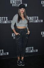 KIRA KOSARIN at Knott's Scary Farm Celebrity Night in Buena Park 09/29/2017