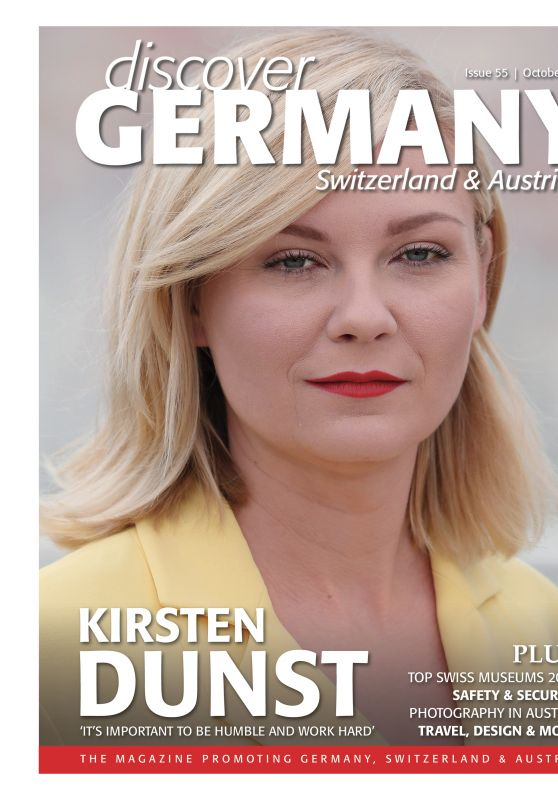 KIRSTEN DUNST in Discover Germany, October 2017