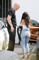 KOURTNEY KARDASHIAN in Ripped Jeans at a Studio in Los Angeles 09/11/2017