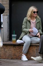 KRISTEN BELL on the Set of Like Father in New York 09/01/2017