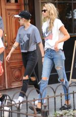 KRISTEN STEWART and STELLA MAXWELL Hold Hands Out in New York 08/31/2017