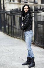 KRYSTEN RITTER on the Set of Jessica Jones in New York 09/20/2017
