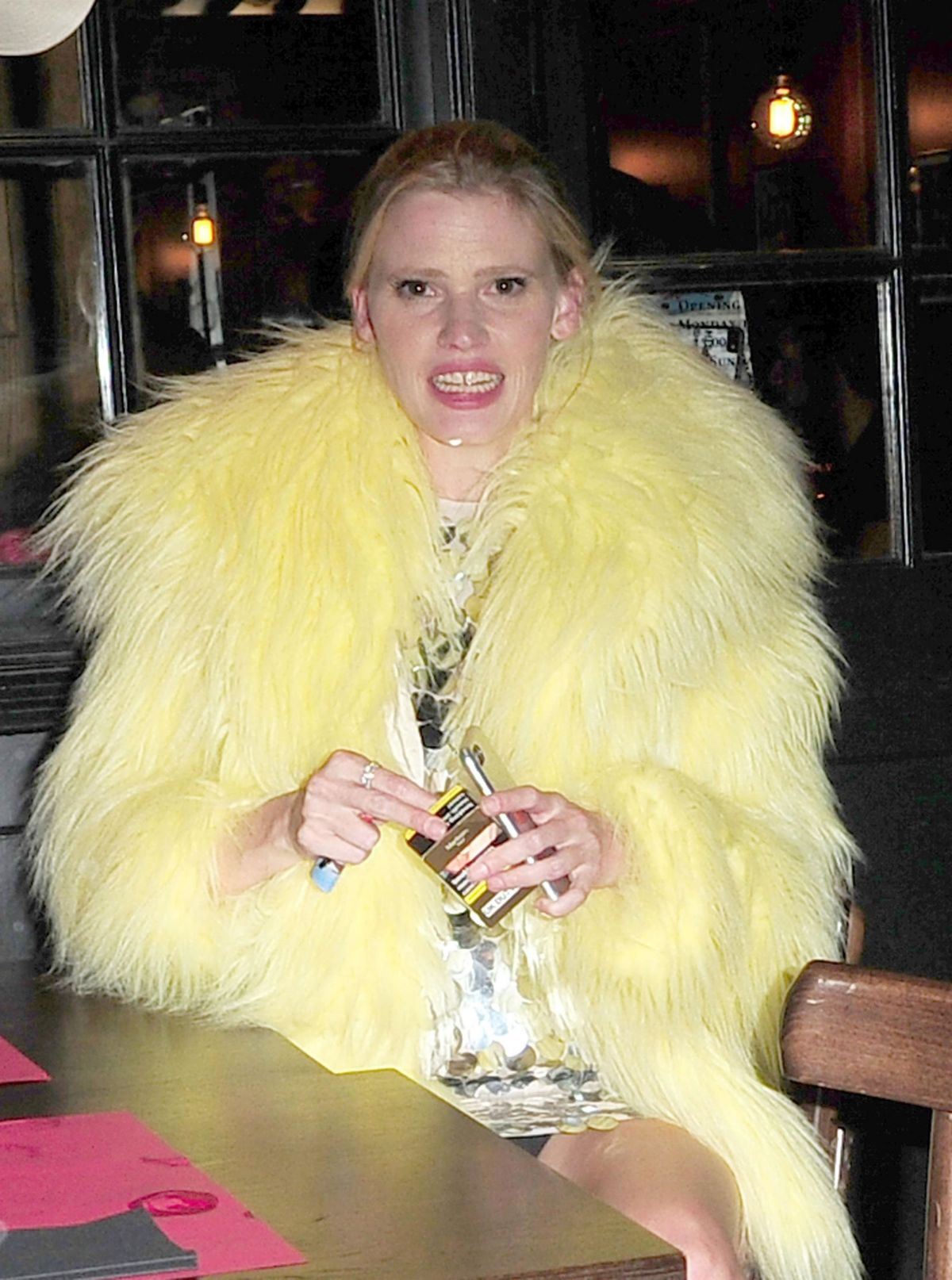 LARA STONE at Love Magazine x Miu Miu Party at London Fashion Week 09/18/2017