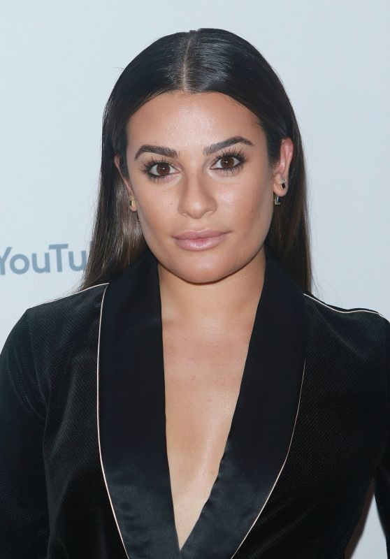 LEA MICHELE at Youtube TV & ABC Tuesday Block Party in New York 09/23/2017