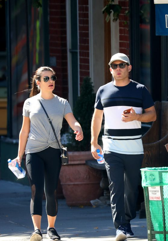 LEA MICHELE Out and About in New York 09/24/2017