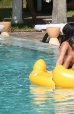 LEIGH-ANNE PINNOCK in Bikini at a Pool in Miami 09/05/2017