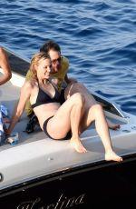 LESLIE BIBB in Bikini at a Boat at Amalfi Coast 08/30/2017