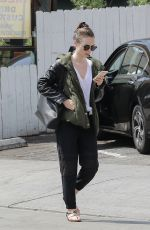 LILY COLLINS Leaves a Gym in Beverly Hills 09/16/2017