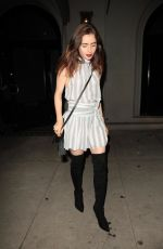 LILY COLLINS Leaves Craig