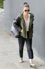 LILY COLLINS Out and About in Beverly Hills 09/16/2017