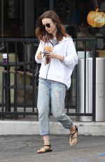 LILY COLLINS Out for a Coffee in Los Angeles 09/15/2017