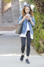 LILY COLLINS Out in Beverly Hills 09/06/2017
