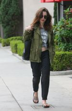 LILY COLLINS Out in Beverly Hills 09/18/2017
