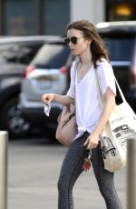 LILY COLLINS Out in Los Angeles 08/31/2017