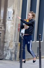 LILY-ROSE DEPP Out and About in Paris 09/25/2017