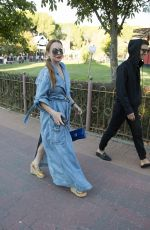 LINDSAY LOHAN at Maria Ke Fisherman Fashion Show in Madrid 09/18/2017