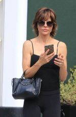 LISA RINNA in Tights Out in West Hollywood 09/02/2017