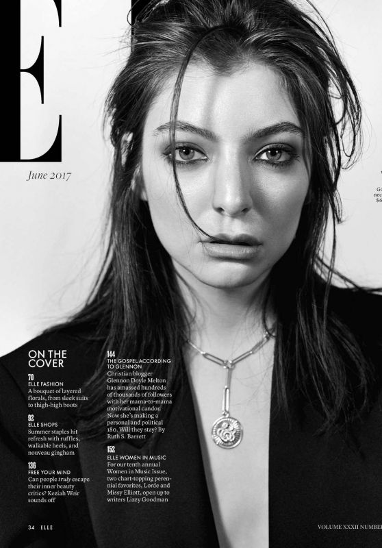LORDE in Elle Magazine, June 2017 Issue