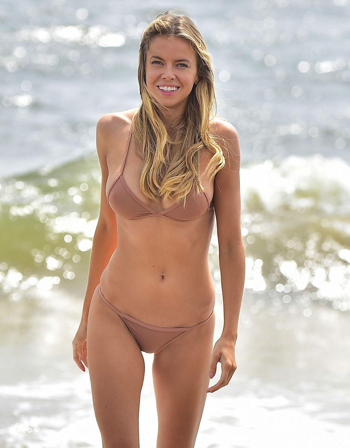 LOUISA WARWICK in Bikini on the Beach Hamptons 08/30/2017