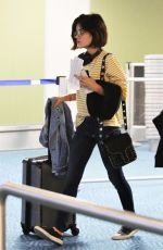 LUCY HALE at Airport in Vancouver 09/02/2017