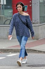LUCY HALE Out and About in Vancouver 09/17/2017
