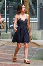 LUCY HALE Out for Lunch in Vancouver 09/06/2017