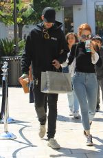 MADELAINE POETSCH and Travis Mills Out at The Grove in Los Angeles 09/23/2017
