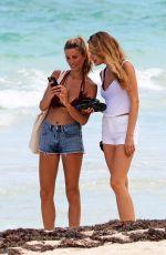 MAJA KRAG and a Friend at a Beach in Tulum 09/21/2017