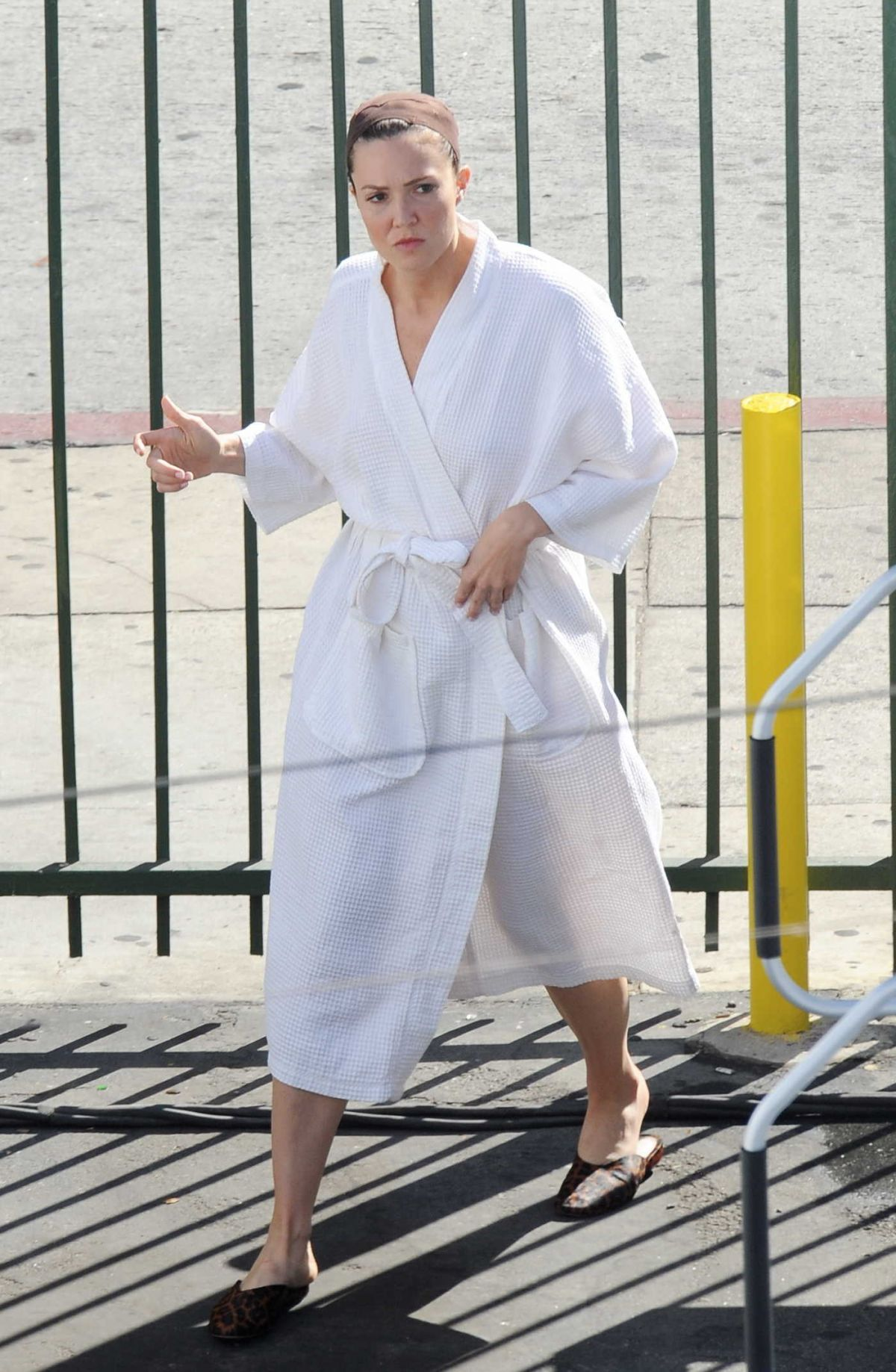 MANDY MOORE on the Set of This is Us in Los Angeles 08/30/2017