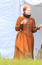 MARGOT ROBBIE on the Set of Mary Queen of Scots Movie 09/04/2017