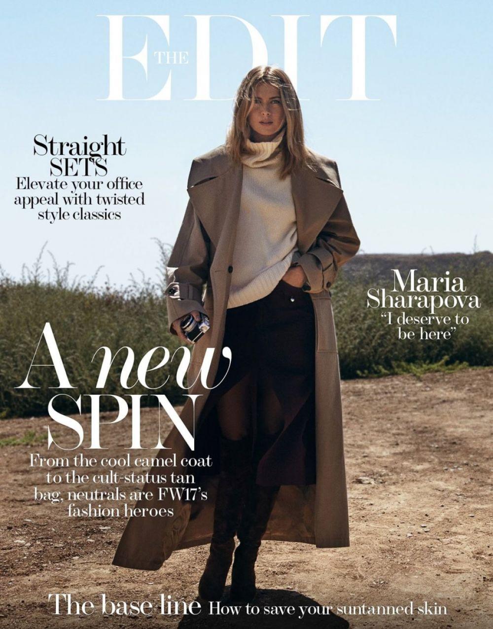 MARIA SHARAPOVA for The Edit Magazine, August 2017