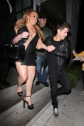 MARIAH CAREY Out for Dinner at Gracias Madre in West Hollywood 09/22/2017