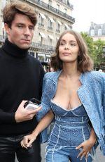MARIE-ANGE CASTA Arrives at Balmain Fashion Show in Paris 09/28/2017