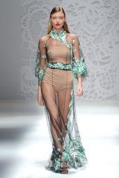 MARTHA HUNT at Blumarine Fashion Show at Milan Fashion Week 09/23/2017
