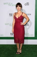 MARTHA MACISAAC at Battle of the Sexes Premiere in Los Angeles 09/16/2017