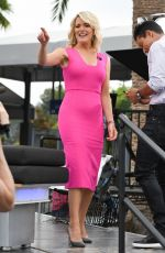 MEGYN KELLY on the Set of Extra in Los Angeles 09/19/2017