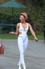 MELANIE BROWN in White Bodysuit Out in Los Angeles 09/23/2017