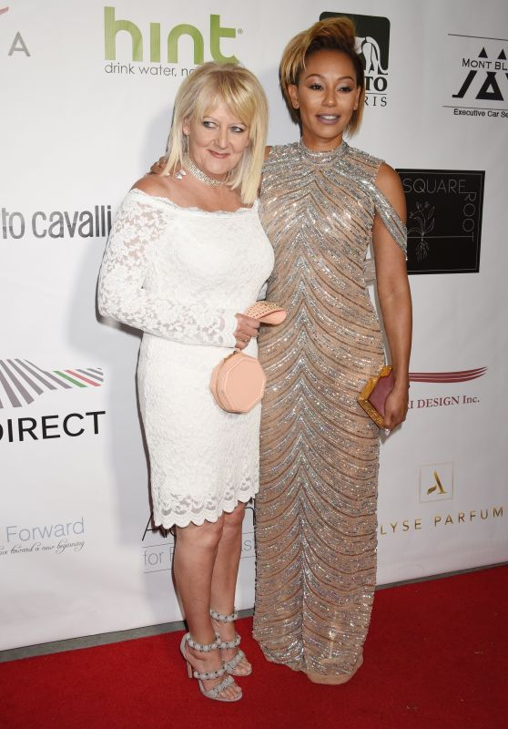 MELANIE BROWN with Her Mother at Face Forward 8th Annual Gala in Los Angeles 09/23/2017