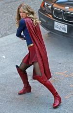 MELISSA BENOIST on the Set of Supergirl in Vancouver 09/28/2017