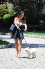MELISSA GORGA Takes Her Dog for a Walk in New Jersey 08/30/2017