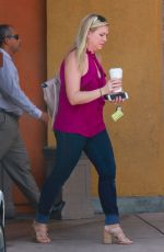 MELISSA JOAN HART Out for Coffee at Starbucks in Beverly Hills 09/13/2017