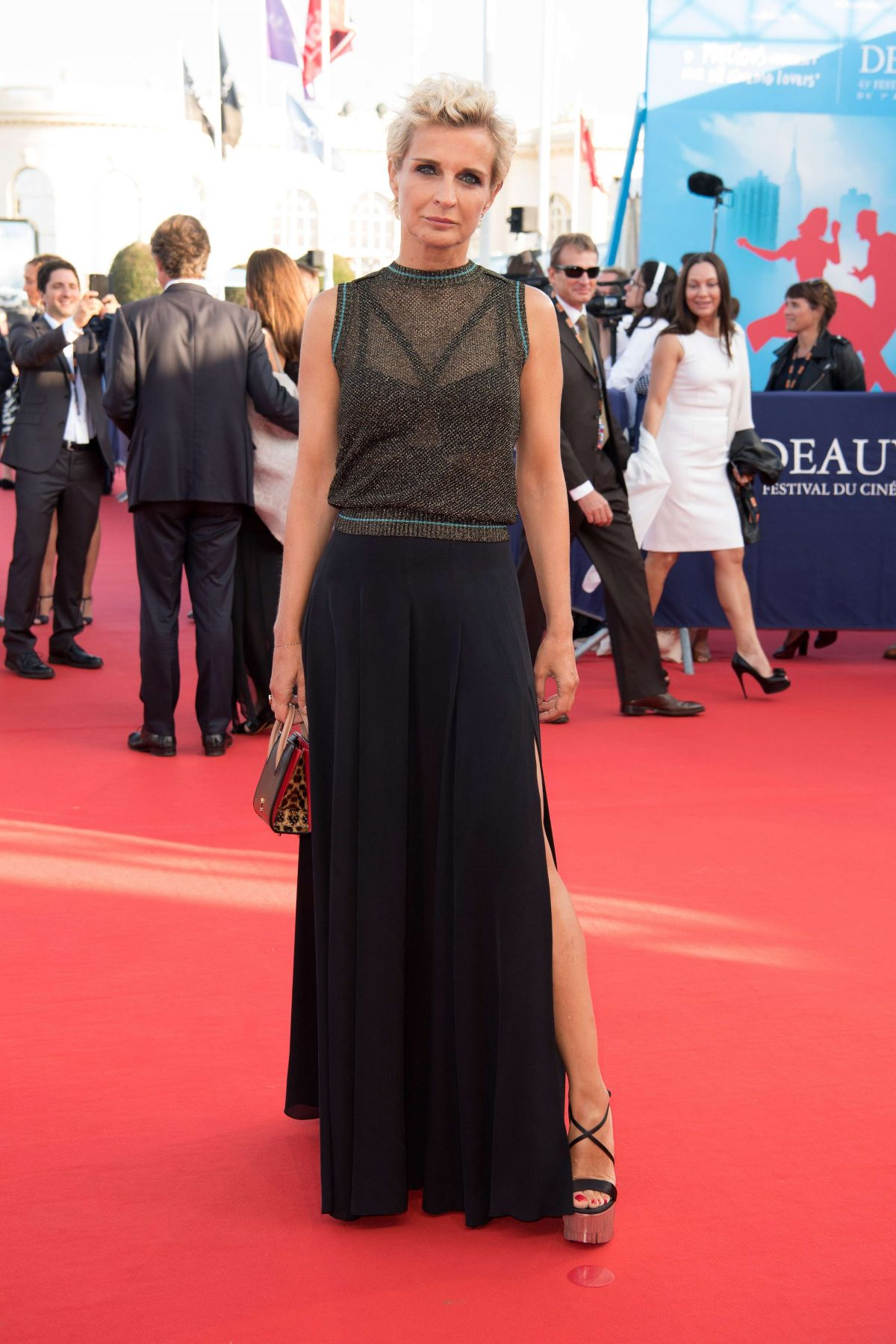 MELITA TOSCAN DU PLANTIER at Good Time Premiere at 43rd Deauville American Film Festival 09/02/2017