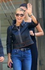 MICHELLE HUNZIKER and AURORA RAMAZZOTTI Out in Milan 09/12/2017