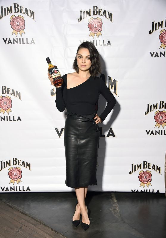 MILA KUNIS at Jim Beam Vanilla Launch Party in New York 09/25/2017