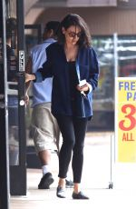 MILA KUNIS Leaves Massage Place in Van Nuys 09/21/2017