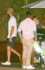 MILEY CYRUS and Liam Hemsworth Out for Dinner at Soho Hoise in Malibu 09/02/2017