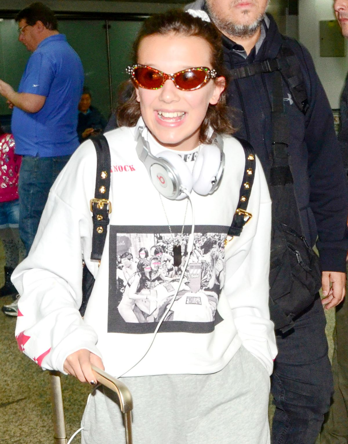 MILLIE BOBBY BROWN at Guarulhos International Airport in Sao Paulo 09/02/2017