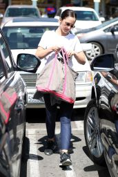MINKA KELLY Shopping at Whole Foods in West Hollywood 09/21/2017